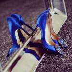 Royal blue ladies pumps