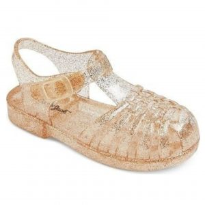 Toddler's Gold jelly sandals