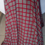 Red and White Check Fabric
