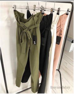 Paper bag pants outfits