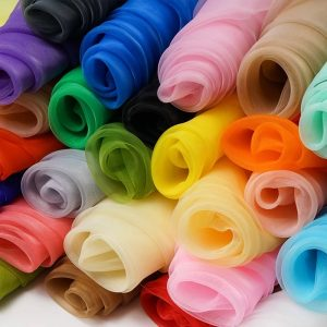 Plain organza fabrics for sale in Nigeria