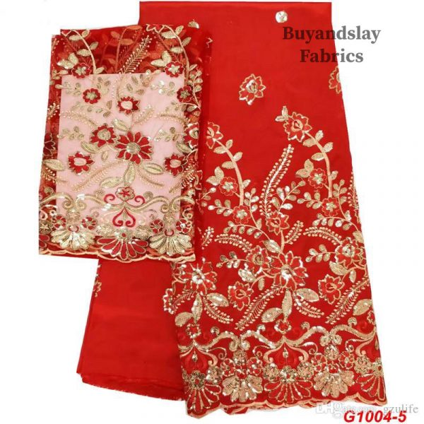 High quality Raw silk George fabric with net blouse