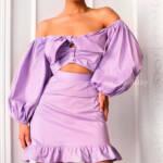 2piece Lilac Cotton Dress