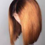 Ombre Human Hair Bob Wig